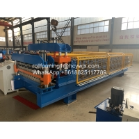 China Steel Sheet Roof PLC 0.6mm Panel Roll Forming Machine wholesale