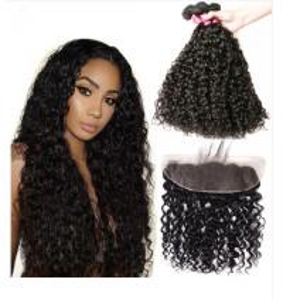 China Water Wave Malaysian Hair Extensions / Virgin Human Hair Bundles For Ladys wholesale