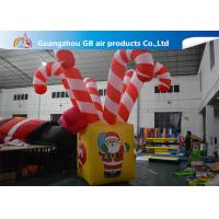 China Giant Colorful Inflatable Christmas Stick / Inflatable Candy Cane Stick / Inflatable Walking Stick wholesale