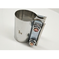 """China Preformed Butt Joint Stainless Steel Exhaust Band Clamp 2.0"""" 2.25"""" 2.5"""" 3.0"""" 4.0"""" 5"""" wholesale"""
