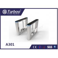 Quality ISO 9001 RFID Security Gate Turnstile Card Reader / Glass Security Barriers for sale