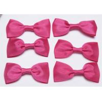 Quality Pink Tie Christmas Ribbon Bow Tie , Satin Ribbon Bows Eco Friendly for sale