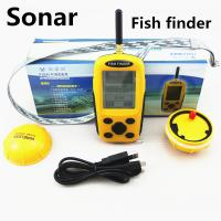 Quality EUROPE Lucky Wireless Fish Finder 70 - 100M Sonar Sensor Dot Matrix Bottom for sale