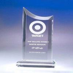 China 20mm / 30mm Transparent Sports Acrylic Award Trophy Enviromental Friendly wholesale