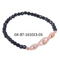 China Personalized agate beads bracelet, rose gold plated silver bracelet for engagement, gift, party wholesale
