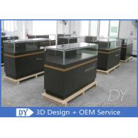 China 8MM Glass Thickness Store Jewelry Display Cases / Dark Gray Jewellery Counter Display wholesale