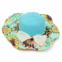 China Paper Material Cowboy Vacation Beach Sun Hats Custom Logo With Nylon Strip on sale