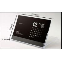China 4mm Transparent Acrylic Calendar Holder Able To Close And Open wholesale