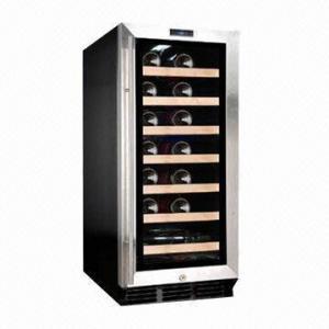 China 26-bottle Capacity Single Zone Wine Cooler/Fridge, R134a Refrigerant, 88L/3.11cuft, CE/ET wholesale