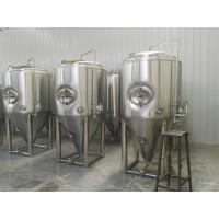 China Side Manhole 1000l Conical Fermentation Tank With 3 Bar Pressure Vessels wholesale