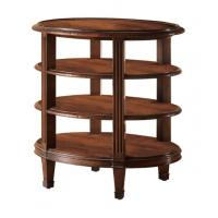 China Modern Rubber Wood Square Round Coffee Table Three Tiered OEM & ODM wholesale