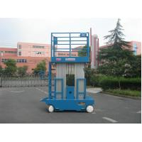 China Blue Hydraulic Aerial Work Platform Dual Mast With 10m Working Height wholesale