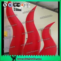 China Holiday Party Entrance Decoration Inflatable Tentacle Cone RED Inflatable Flame wholesale