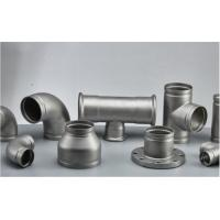 Stainless Steel Grooved Pipe Fittings With Sandblasting / Polishing Surface Treatment