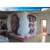 China Fireproof White Cube Inflatable Helium Balloons PVC Material Full Digital Printing wholesale