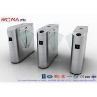 China IP54 Anti - Breakthrough Flap Barrier Gate Speed Automatic With Barcode wholesale