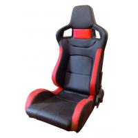 China Comfortable PU Leather Sport Auto Racing Seats / Black And Red Racing Seats wholesale
