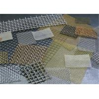 China 1-120 Mesh Stainless Steel Crimped Wire Mesh / Cloth / Net For Smoking Pipe wholesale