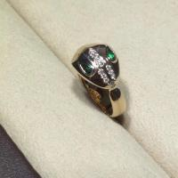 China Bvlgari brand jewelry gold ring with diamond ring 18kt  gold  with white gold or yellow gold wholesale