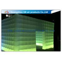 China Pvc Coated Nylon Inflatable Air Tent Square Tent Booth With Led Lighting wholesale