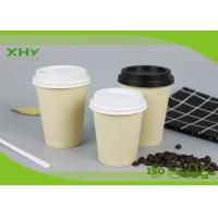 China 8oz Food Grade Eco-friendly Bamboo Paper Cups Single Wall for Coffee with Lids wholesale