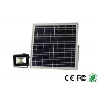 China Lithium Battery 12v 15w Commercial Solar Flood Lights With PIR Sensor wholesale