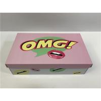 China Durable Cardboard Shoe Boxes With Cute Logo Flexible Capacity For Girls Shoes wholesale