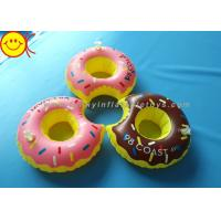 China PVC Inflatable Water Floats Food Floating Donut Inflatable Drink Holder / Cup Holder wholesale