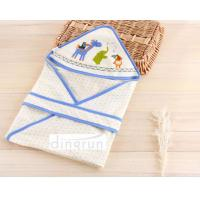China 100% Cotton Cozy Custom Baby Hooded Towels For Bath , Animals Pattern on sale