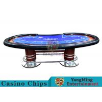 China Pea - Type Table Design Custom Casino Craps Table For Poker Casino Games wholesale
