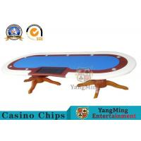 China 10 Player Deluxe Speed Poker Table Poker Table Custom Cloth With Marble Finish wholesale