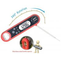 China Red Electronic Meat Thermometer / Waterproof Digital Thermometer With Inside Magnet wholesale