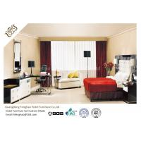 China Modern Commercial Hotel Apartment Furniture Sets Plywood Large Size King Bed With Floating Side Table  For Hotel wholesale