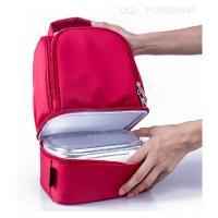 China School Camping Red Thermal Kids Insulated Lunch Bag With Zip Closure wholesale