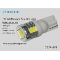 Buy cheap T10 WG Auto Led Bulbs , Automotive Led Replacement Bulbs  6SMD 5630 Samsung product