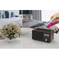 China 80Hz Portable Wireless Charging TM Bluetooth Speaker Alarm Clock wholesale