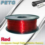 China Hight Transparent Red PETG 3D Printer Filament Acid And Alkali Resistance 1.0kg / roll wholesale