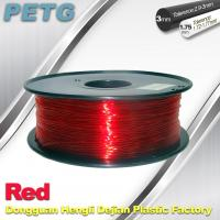 Buy cheap Hight Transparent Red PETG 3D Printer Filament Acid And Alkali Resistance 1.0kg / roll from wholesalers