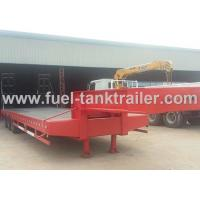 China Red 3 Axle Heavy Duty Trailer , Low Bed Trailer Truck 30T Loading Weight wholesale