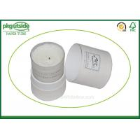 China White Card Cardboard Canister Packaging , Custom Printed Candle Boxes on sale