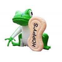 China Outdoor advertising characters giant inflatable frog cartoon characters on sale