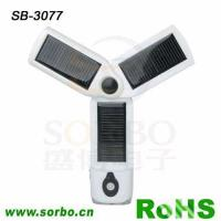 China Solar Flashlight with Cellphone Charger for Camping SB-3077 wholesale
