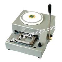 China Embossing and tipping serial  WL-2000 PVC Card Embossing Machine wholesale