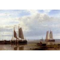 China Sail boats(262) Shipping_In_A_Calm_Estuary wholesale