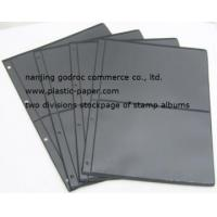 China transparent PVC stamp album stock page(two pockets) TSAP-2F on sale