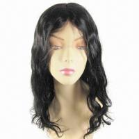 indian remy 18inch 1b curl full lace wig
