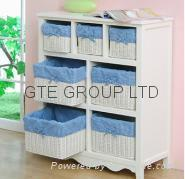 China Solid wood Storage Cabinet with Basket wholesale