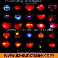 China Valentine flashing badge wholesale