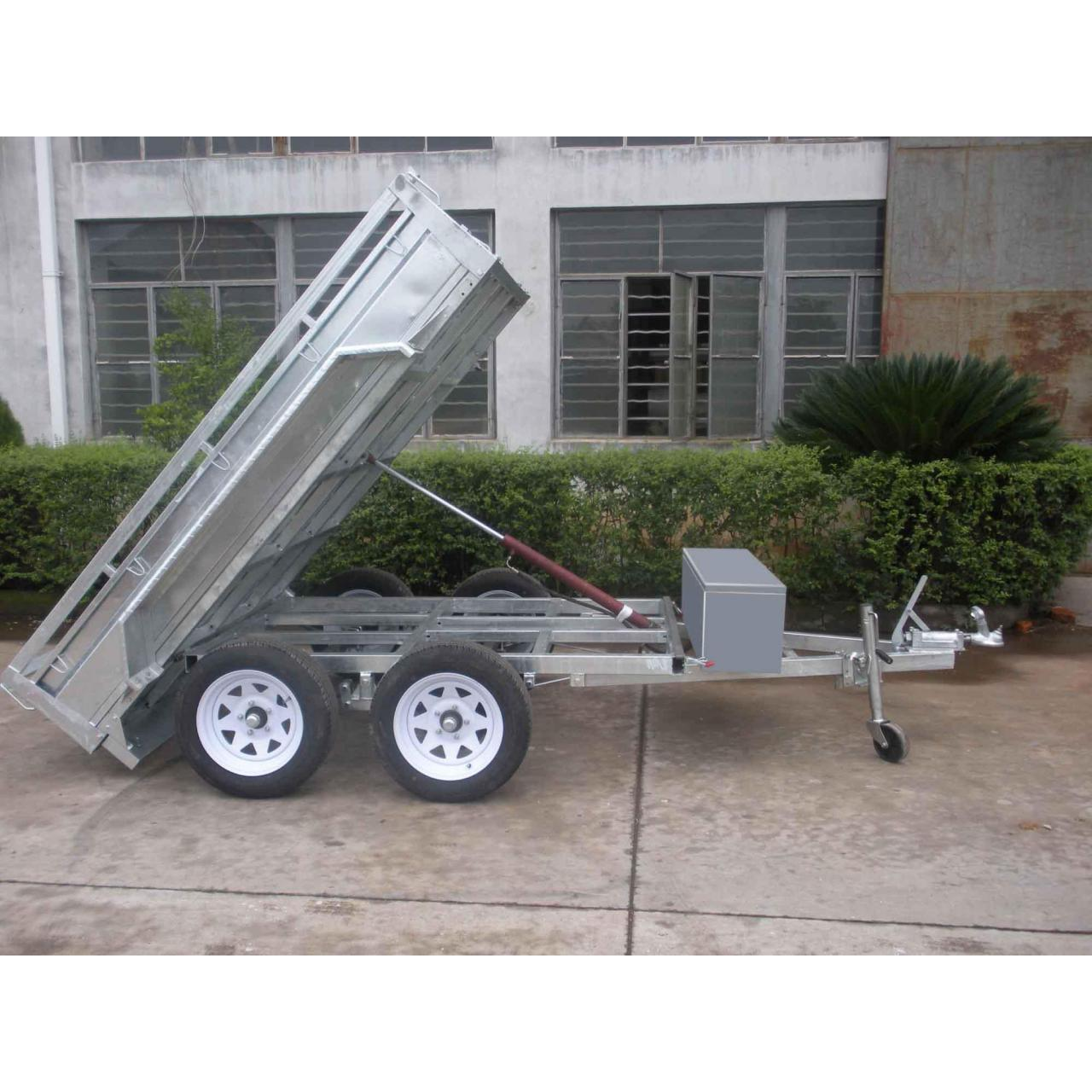 China Tandem box tipping trailer wholesale