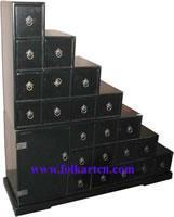 China Large Cabinet C-256-2p3 Chinese Black Lacquer Drawer Ladder Cabinet wholesale
